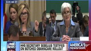 Rep. Marsha Blackburn Grills Secretary Kathleen Sebelius on the Hill 10.30.2013