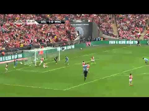 Arsenal 3 - 0 Manchester City Highlights 2014