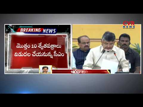 CM Chandrababu Naidu Releases 9th White Paper Today | Andhra Pradesh | CVR NEWS