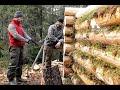 Поход в тайгу на 8 дней (жизнь в тайге, строительство избы, охота, рыбалка)