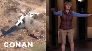 The Spinning Helicopter Woman's Turbulent Journey To CONAN - CONAN on TBS