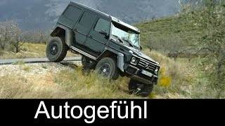 New Mercedes G500 4x4 offroad monster driving shots exterior - Autogefühl