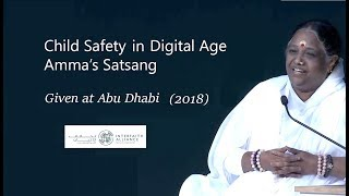 Amma's Satsang (Mata Amritanandamayi Devi) at Abu Dhabi, UAE 2018 - Child Safety in Digital Age