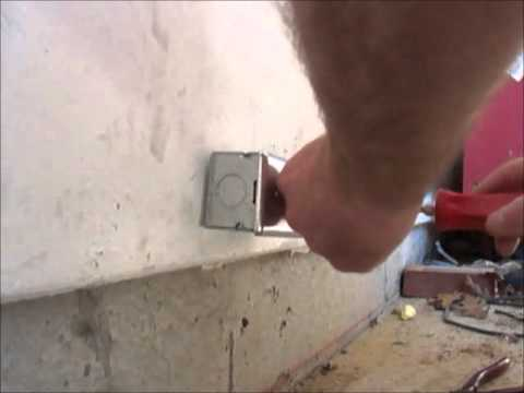 Installing a 240v plug for an air compressor.