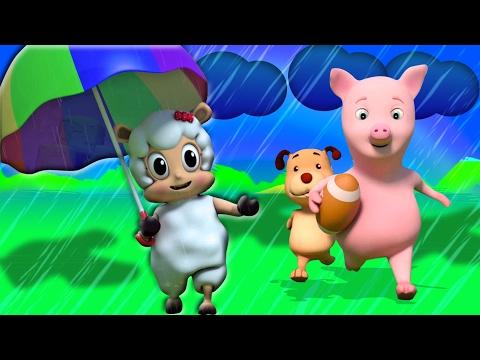 Hujan Hujan pergi Jauh | puisi untuk anak-anak  | Songs For Kids | 3D Kids Songs | Rain Rain Go Away