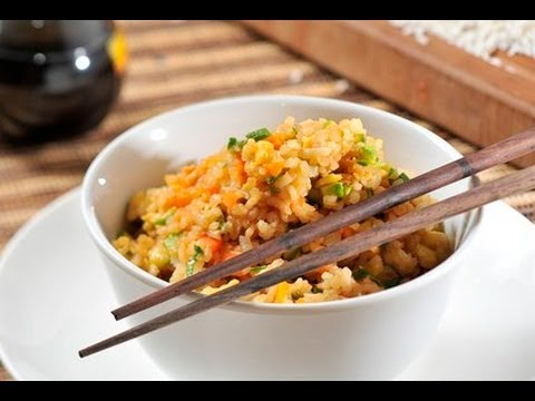 Arroz frito con verduras - Fried Rice with Vegetables