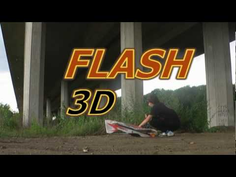 Flash 3D RC epp plane létání 2009
