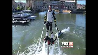 FLYBOARD in Las Vegas FOX 5 NEWS 28/12/11