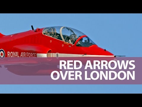 Cockpit Footage of The Red Arrows Flying Over London for the Olympics Opening Ceremony