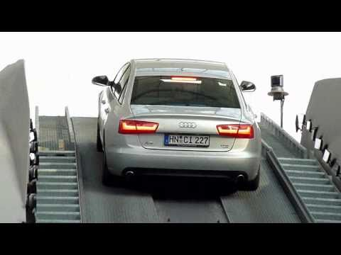 Munich Airport - AUDI A6 Quattro Hill Start Stunt