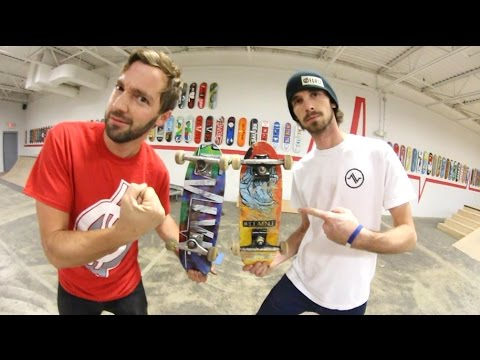 Tiny Skateboards! Game of S.K.A.T.E. / Andy Schrock VS Alex Buening