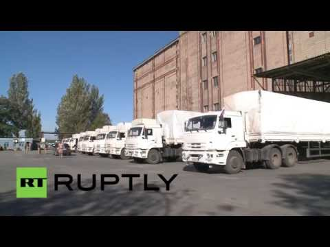 Ukraine: Battle-torn Donetsk welcomes Russian humanitarian aid convoy arrival