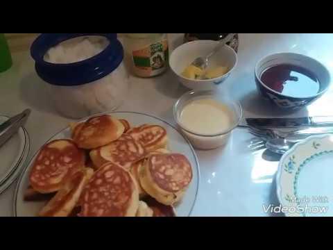 Оладьи на завтрак..Pfannkuchen .