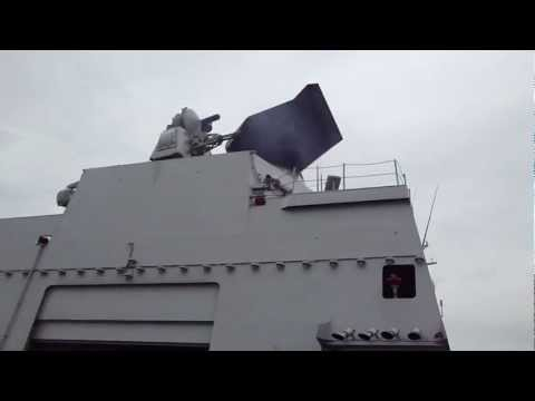 Goalkeeper CIWS Gun System on Dutch Frigate