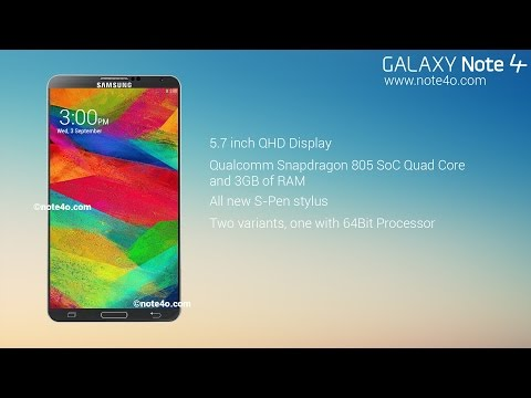 NEW Samsung Galaxy Note 4 Amazing IFA 2014 Concept