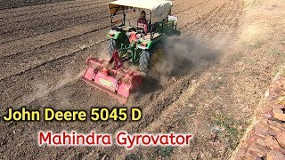 John Deere 5045D 45hp Tractor with Mahindra Gyrovator