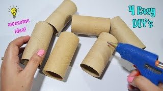 4 Ways To ReUse/Recycle Empty Tissue Roll| Best Out of Waste