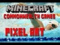 "Minecraft Xbox 360 ""GIANT PIXEL ART"" Swimming at the Commonwealth Games"