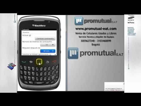 Como poner contraseña o clave a mi BlackBerry Curve 8520. 9300 y otras