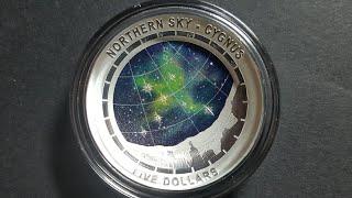 Australia Northern Sky Cygnus $5 silver coin