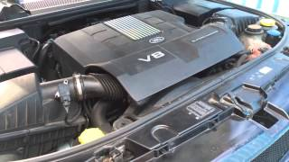 Range rover V8 Supercharged engine sound