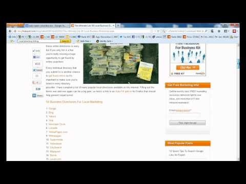 Small Business SEO Step by Step 2012: Part 3 - Local Directory Listings and Google Places