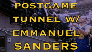 Postgame tunnel: Emmanuel Sanders meets Steph Curry, KD (Kevin Durant), Klay and Draymond in Denver