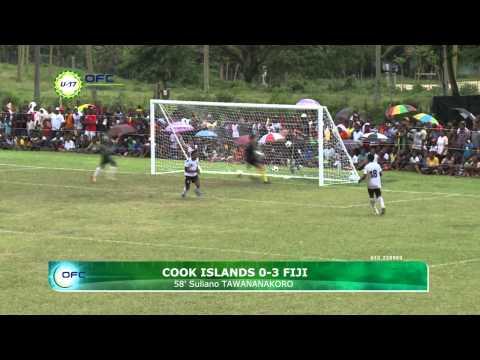 2013 OFC U 17 Championship Day 5 Cook Islands vs Fiji Highlights