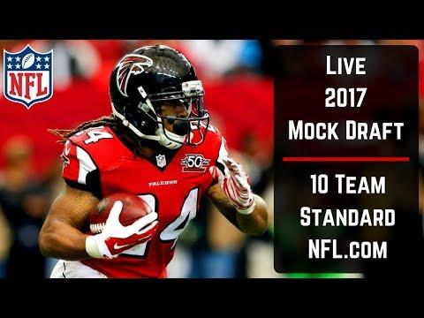 Live 2017 Fantasy Football Mock Draft Nfl Com 10 Team