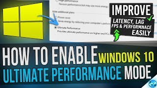 🔧 How to Enable Windows 10 ULTIMATE Performance mode Guide