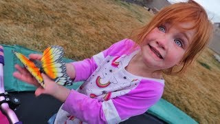 Backyard PET BUTTERFLY!!  Earthquake Morning Routine! Family check up! Animals get a new zoo house!