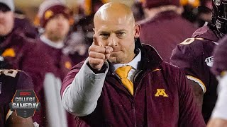 P.J. Fleck's 'row the boat' culture has transformed Minnesota into a contender | College GameDay