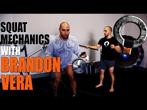 MMA Training Sessions - Squat Exercise Technique with UFC fighter Brandon Vera Image 1