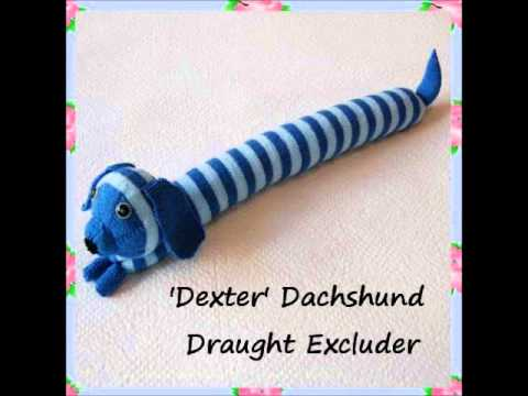 Knitting Pattern For Dog Draught Excluder : Dexter Dachshund Sausage Dog Draught Excluder Country Pet Toy Knitting Patter...