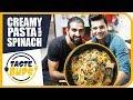 3/8   Creamy Pasta with Spinach   Taste Buds