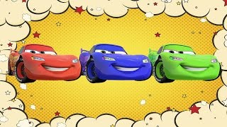 Learn Disney Cars Colors Vehicles Lightning McQueen - Colours for Kids to Learn Videos
