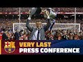 Luis Enrique's final appearance in the press room as Barça coach