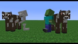 Monster School: Milking (Minecraft Animation)