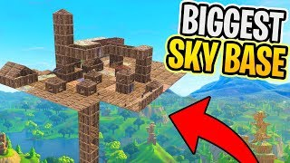 Fortnite BIGGEST Sky BASE! (Fortnite Battle Royale)