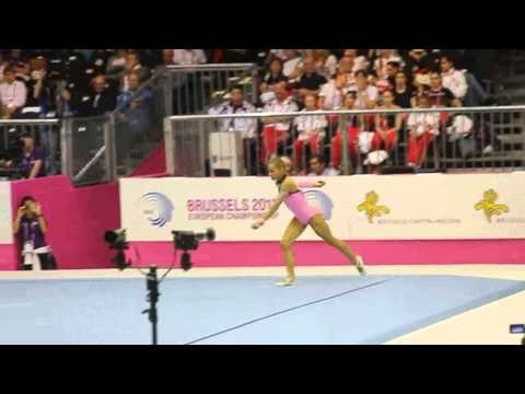 Vasiliki MILLOUSI GRE, Floor Senior Qualification, European Gymnastics Championships 2012 (Partial)