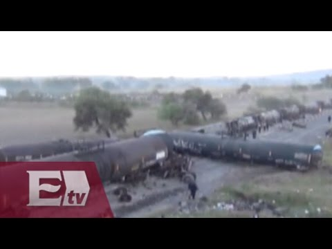 Aparatoso accidente en Celaya: Cae tráiler sobre tren y lo descarrila / Excélsior Informa