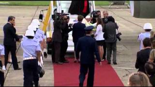 Raw: Pope Francis Arrives in Brazil 7/22/13