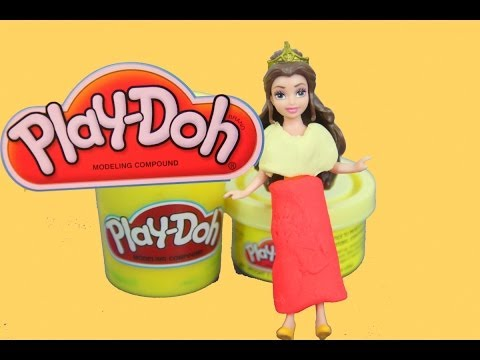 Play-Doh Disney Belle Beauty and the Beast DIY Polly Pocket Tutorial