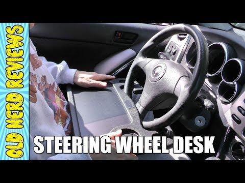 Mobile Steering Wheel Car Desk REVIEW | Mobile Office Desk 🚗