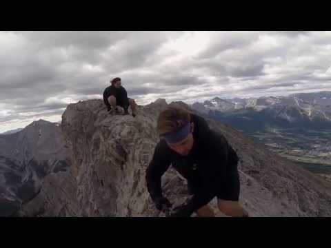 Hiking the narrow Lady MacDonald Ridge July 5th 2014. At approx. 2min is the best most narrow part of the ridge near the summit of the mountain! Music by Ban...