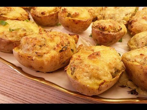 Фаршированный запеченный картофель в духовке