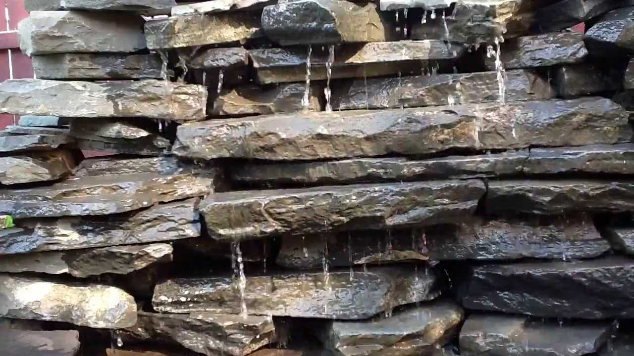 Rock wall water fall fountain youtube - How to build an outdoor fountain with rocks ...