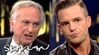Richard Dawkins and Brandon Flowers in religious dispute | SVT/NRK/Skavlan