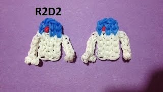 How to Make R2D2 on the Rainbow Loom - Original Design