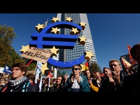 Occupy Wall Street: Kundgebungen in Berlin, Frankfurt und Rom (16.10.2011)